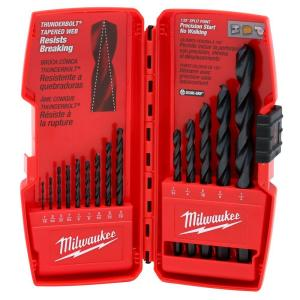 Milwaukee Black Oxide Drill Bit Set (14-Piece) by Milwaukee