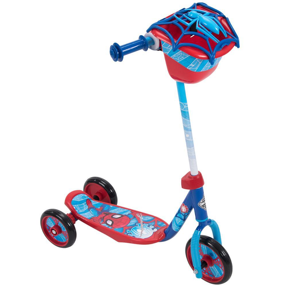 Boys Marvel Spider-Man 3-Wheel Scooter with Bin