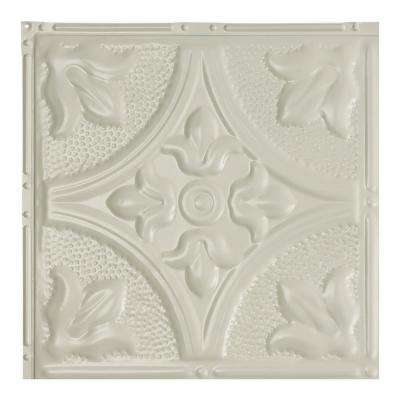 Jamestown Antique White 12 in. x 12 in. Nail-Up Ceiling Tile Sample