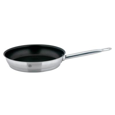 PRO-X 9.5 in. Stainless Steel Nonstick Skillet in Satin Stainless Steel