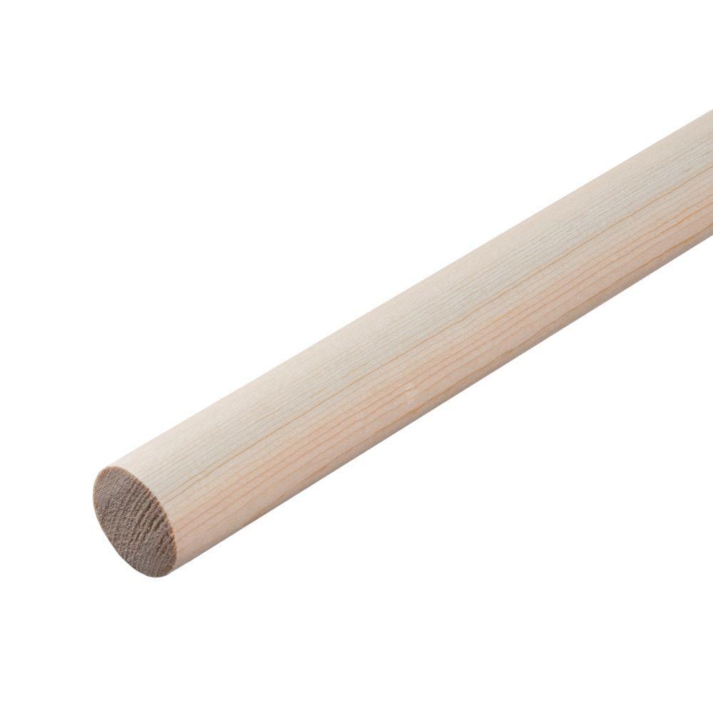 1-1/4 in. x 48 in. Hardwood Round Dowel
