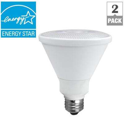 75-Watt Equivalent Warm White PAR30 Dimmable CEC LED Spot Light Bulb (2-Pack)