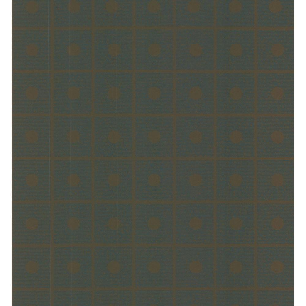 Brewster Simple Space Brown Domino Wallpaper Sample 141-62153SAM