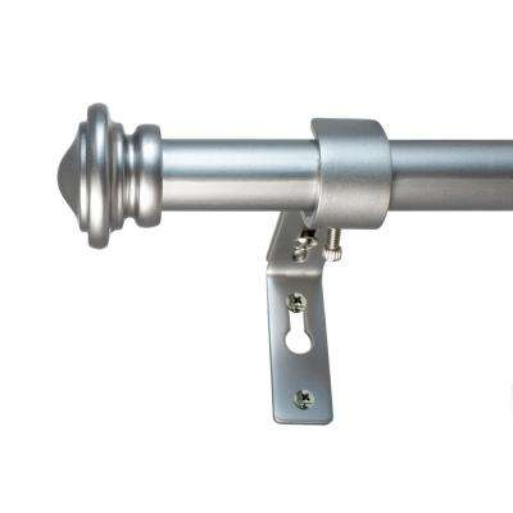 18 in. - 36 in. Cap Telescoping 3/4 in. Dia Rod Set Antique Silver