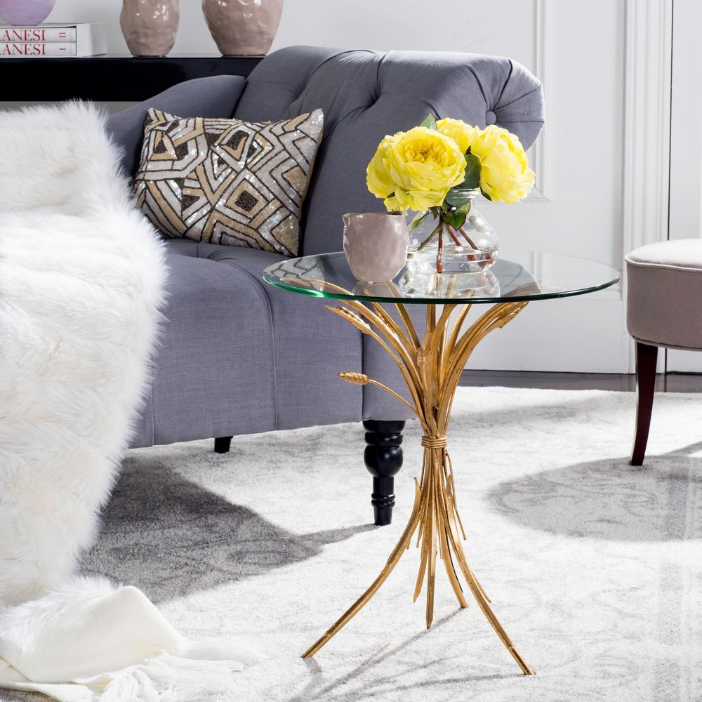 Bessi Gold Glass Side Table