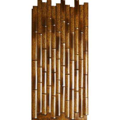 5/8 in. x 24-3/8 in. x 53-7/8 in. Burned Urethane Bamboo Slat Wall Panel