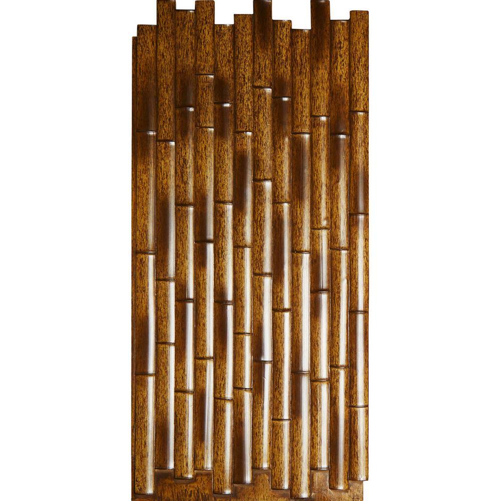 Ekena Millwork 5/8 in. x 24-3/8 in. x 53-7/8 in. Burned Urethane Bamboo Slat Wall Panel