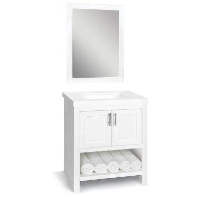 Spa 30 in. W x 18.75 in. D Bathroom Vanity Cabinet with Top in White