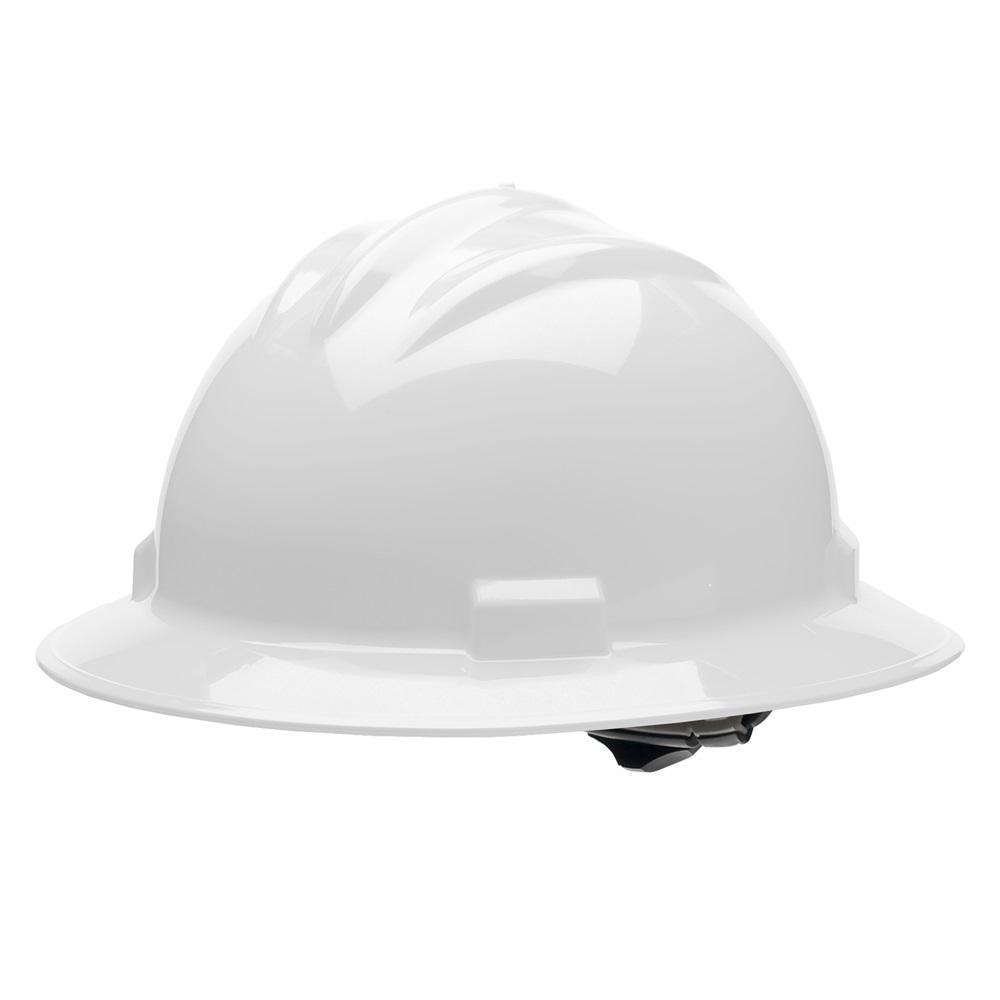 Bullard White 4 Point Ratchet Suspension Full Brim Hard Hat-HH71WHX ... 2fc6a4d6e