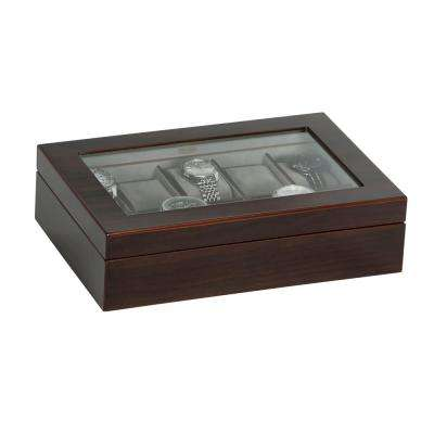 Hudson Mahogany Finish Wooden Watch Box