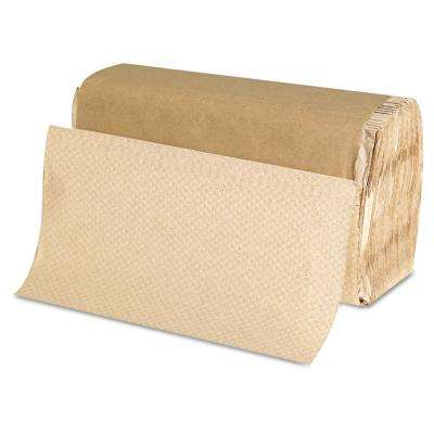 Natural Singlefold Paper Towel (250/Pack, 16-Packs/Carton)