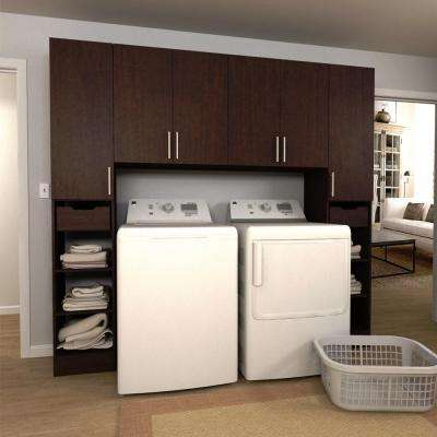 Horizon 90 in. W Mocha Tower Storage Laundry Cabinet Kit