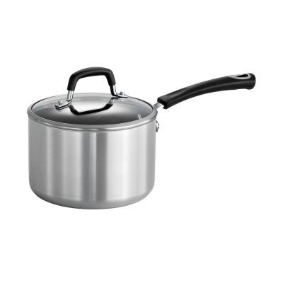 Style Polished Aluminum 3 Qt. Covered Sauce Pan