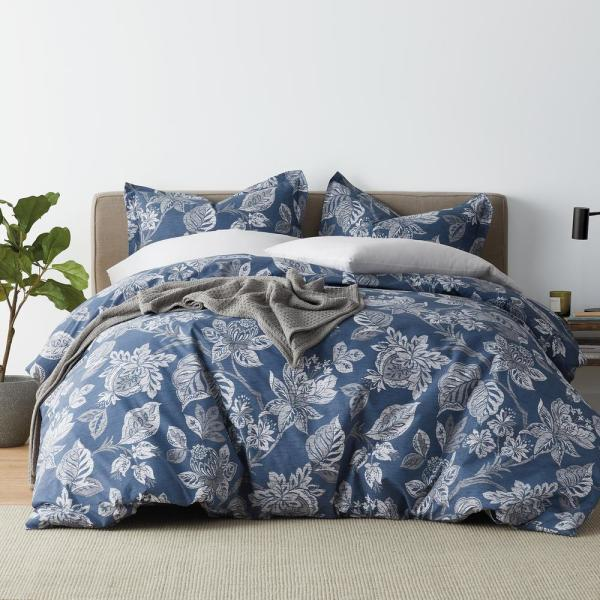 The Company Store Leah 3-Piece 200-Thread Count Cotton Percale King Duvet
