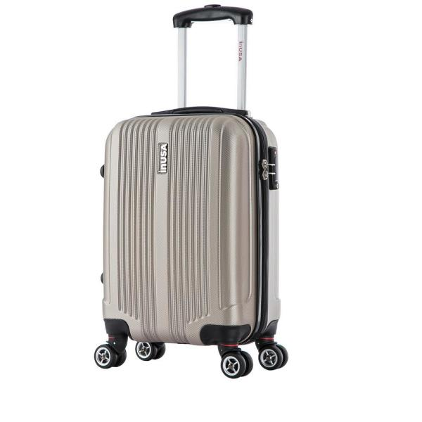 InUSA San Francisco lightweight hardside spinner 18 in. carry-on-Champagne