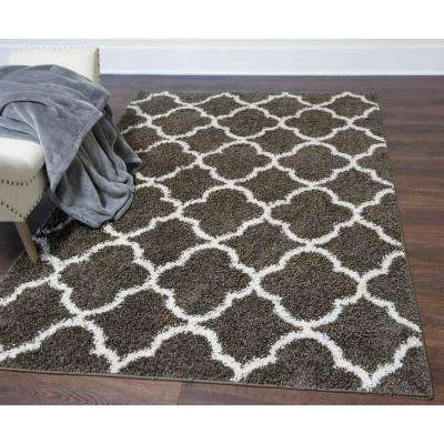 Synergy Dark Gray/White 5 ft. x 7 ft. Indoor Area Rug