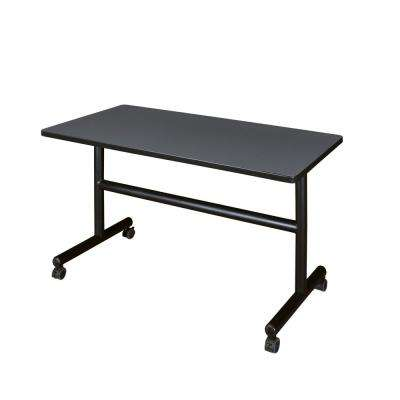 Kobe Grey 48 in. W x 24 in. D Flip Top Mobile Training Table