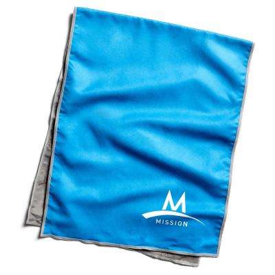 Hydro Active 12 in. x 33 in. Blue Microfiber Large Cooling Towel