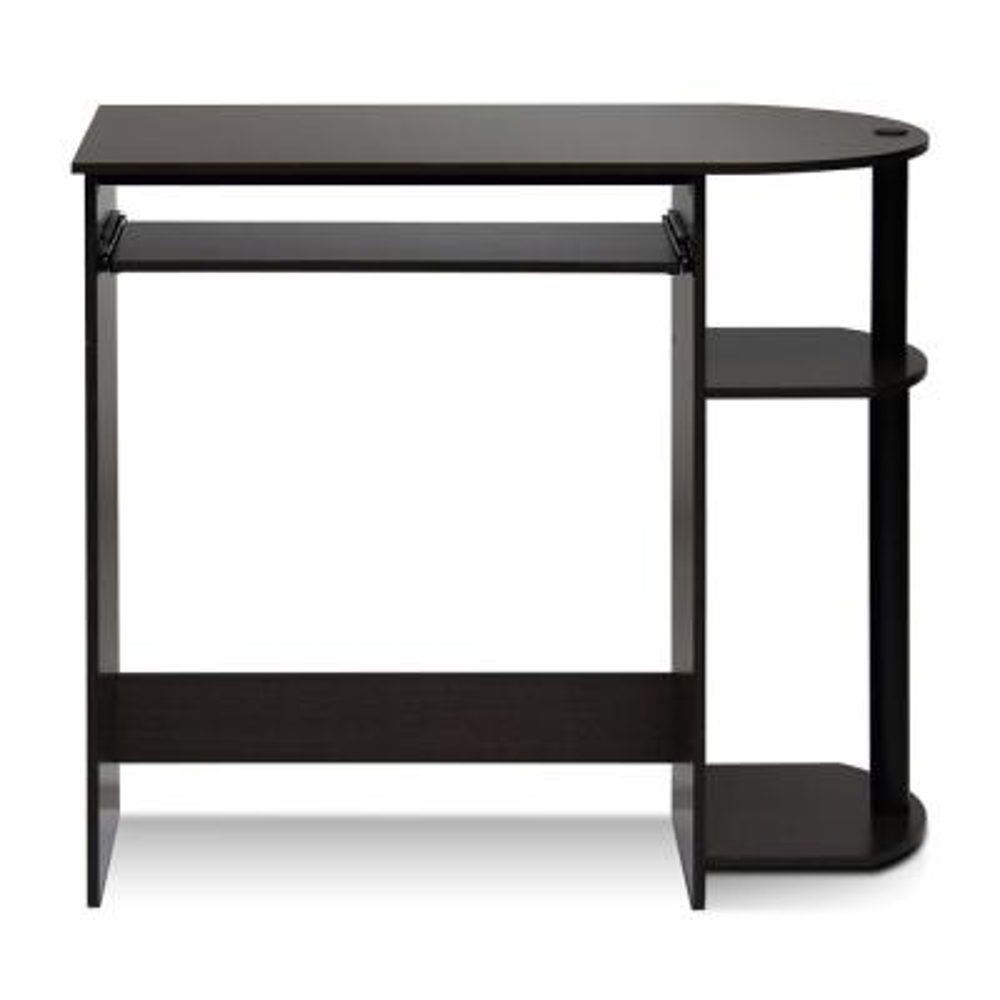 32 in. Rectangular Dark Brown Computer Desk with Keyboard Tray