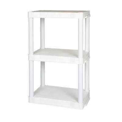 White 50 lbs. per Shelf 3-Shelfing Unit