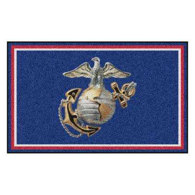 U.S. Marines 4 ft. x 6 ft. Ultra Plush Area Rug