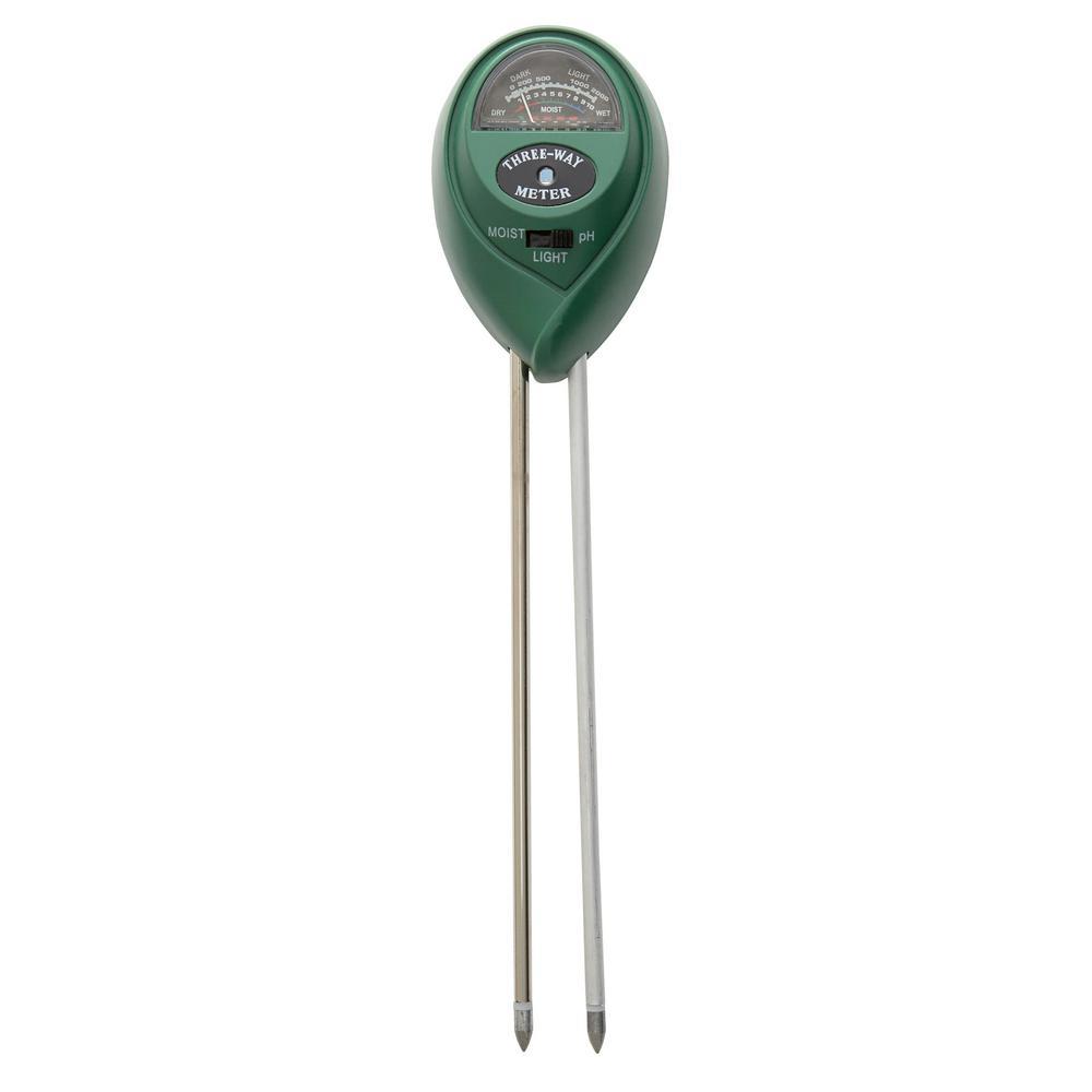 Hydro Crunch Soil Moisture Light pH Meter 3-in-1 Soil Tester Kit for Garden