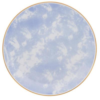 11.22 in. Coup Blue and Yellow Dinner Plates (Set of 12)