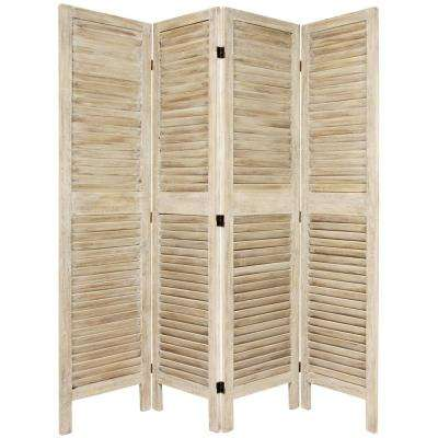 Burnt White Venetian 4 Panel Room Divider