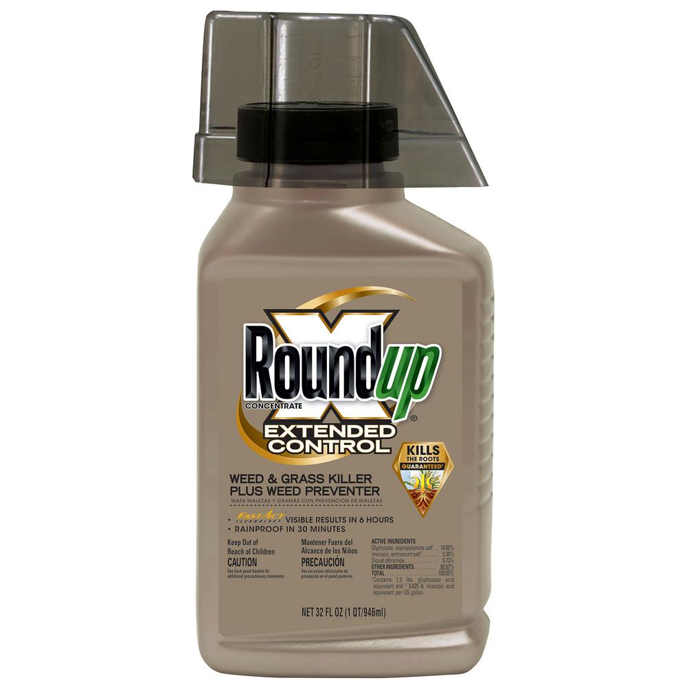 Roundup 32 oz. Concentrate Extended Control Weed and Grass Killer Plus Weed Preventer