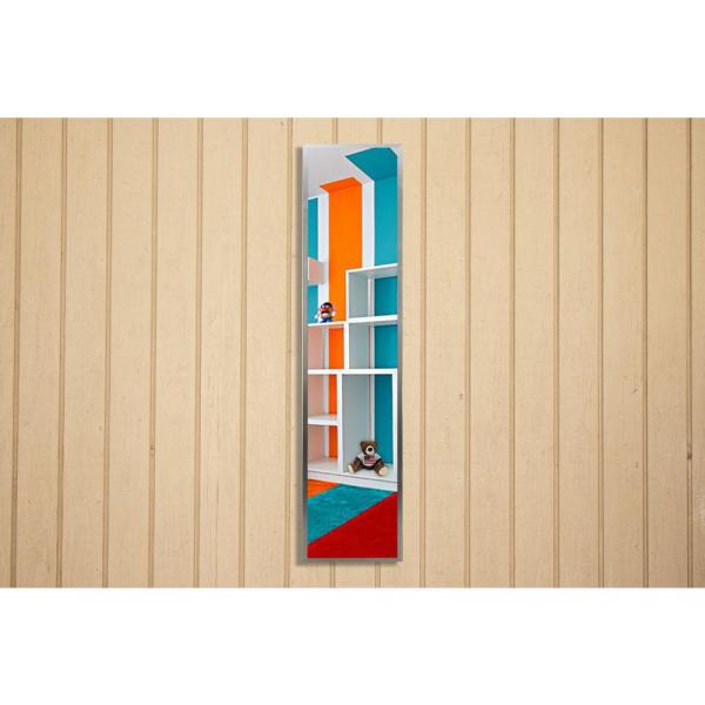 20.125 in. x 4.125 in. Romeo Silver Sheen Panel Vanity Mirror