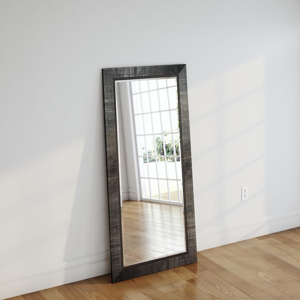 31 in. x 64.5 in. Tuscan Ebony Beveled Full Body Mirror