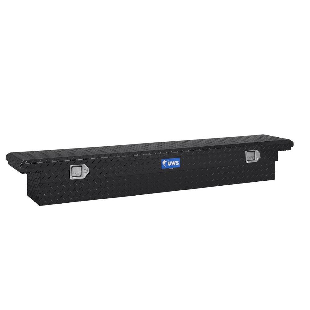 69 in. Aluminum Black Single Lid Crossover Slim Line Low Profile Tool Box