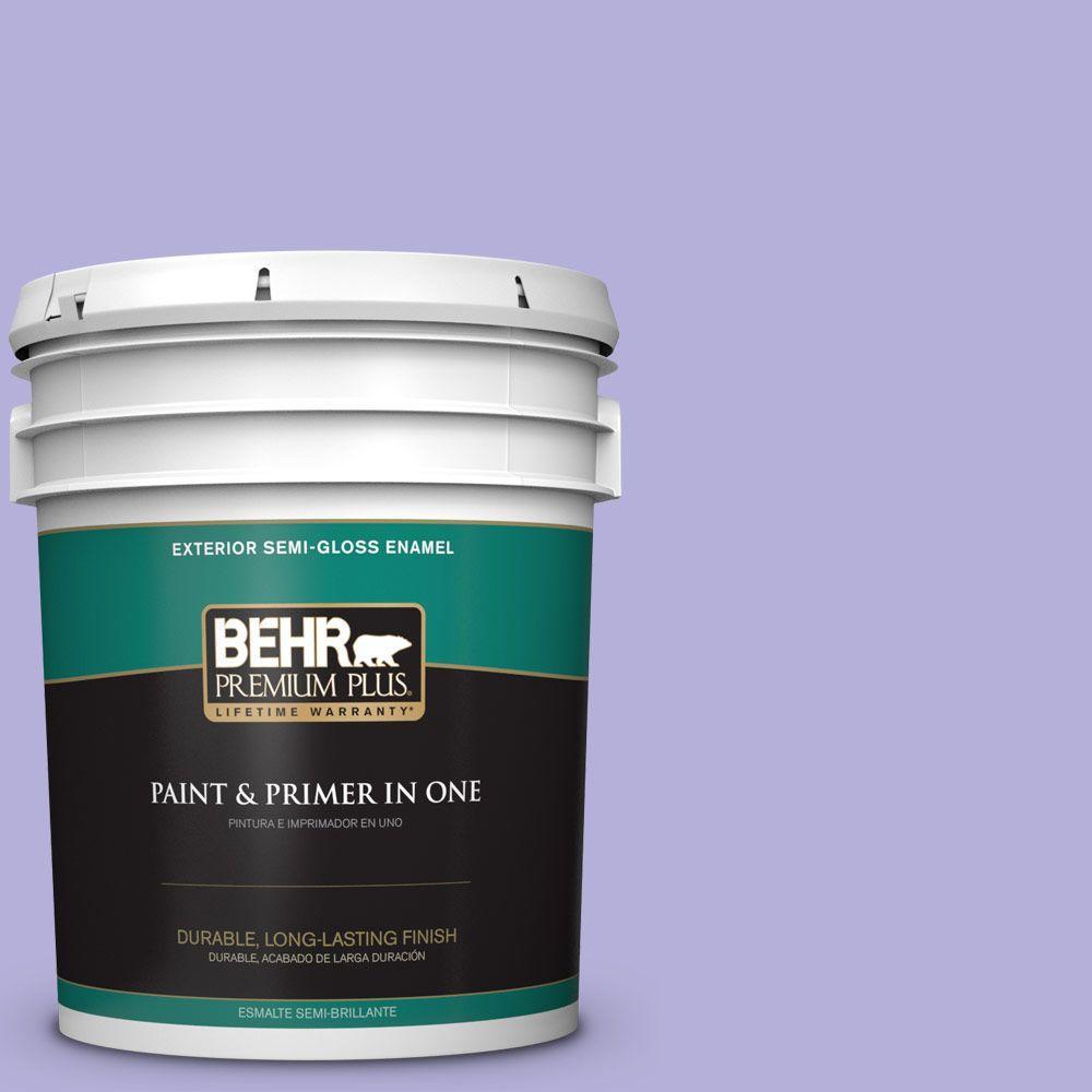 5-gal. #630B-4 Freesia Purple Semi-Gloss Enamel Exterior Paint