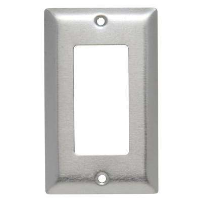 302 1-Gang Decorator Wall Plate in Stainless Steel