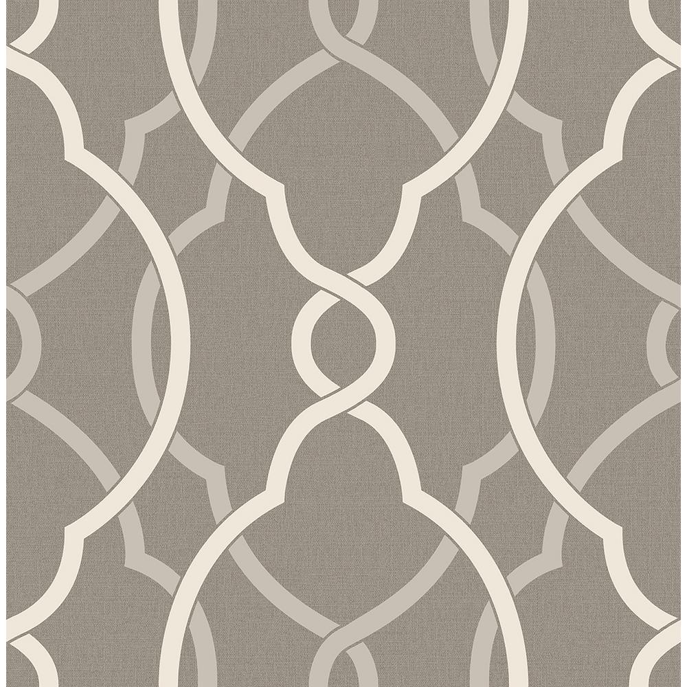 A-Street Sausalito Grey Lattice Wallpaper 2697-22626