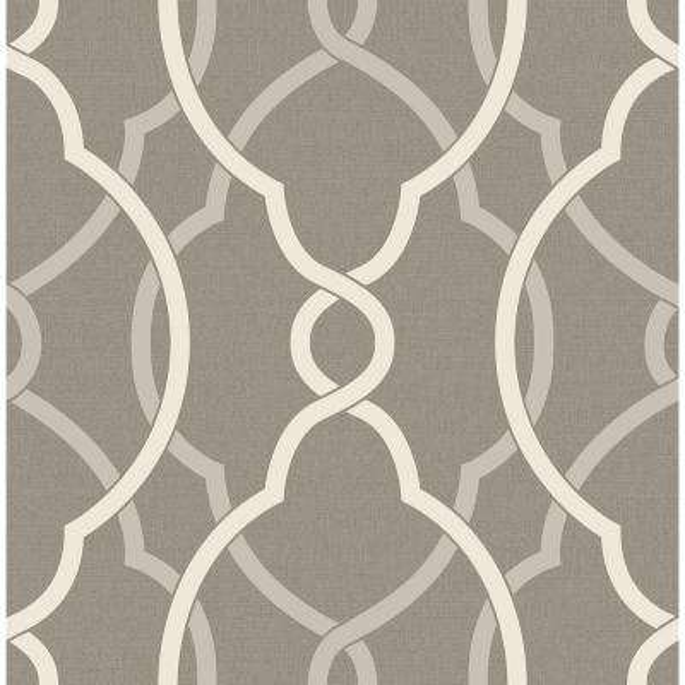 Sausalito Grey Lattice Wallpaper Sample