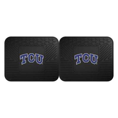 NCAA Texas Christian University Black Heavy Duty 2-Piece 14 in. x 17 in. Vinyl Utility Mat