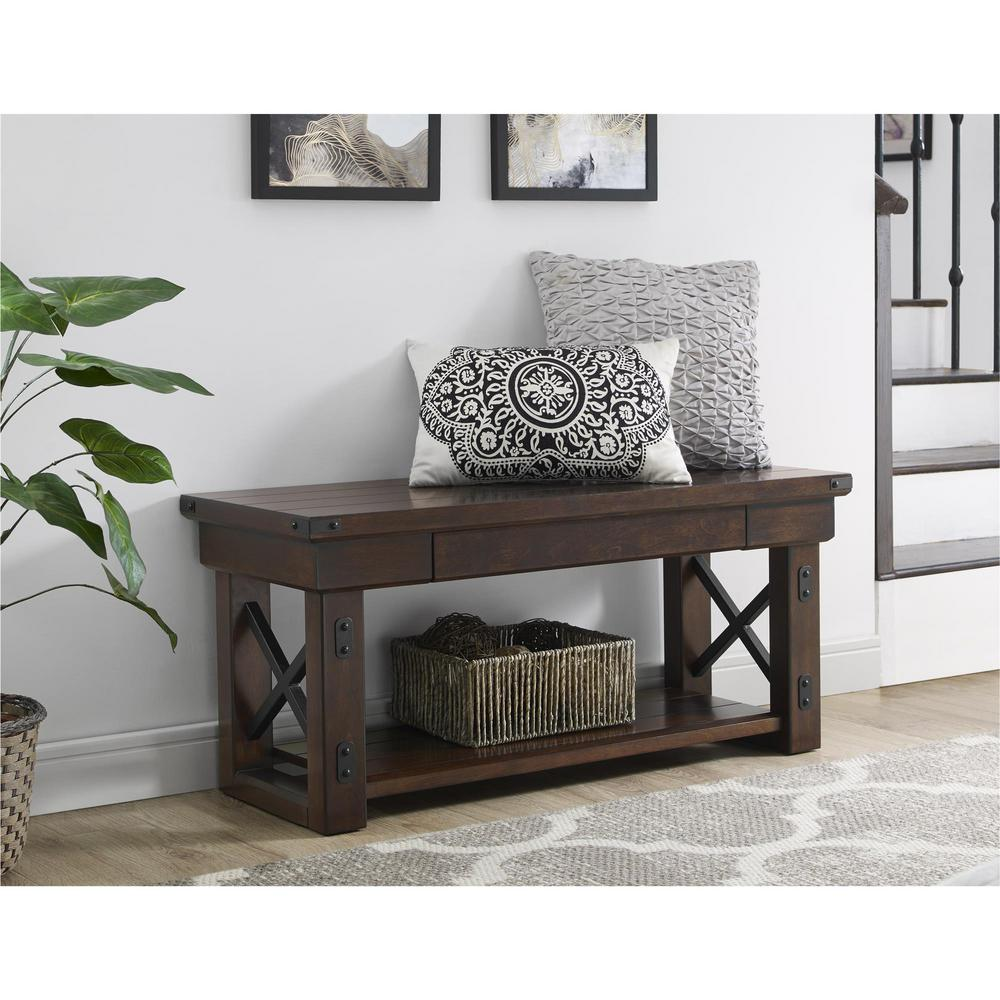 Wildwood Mahogany Storage Bench