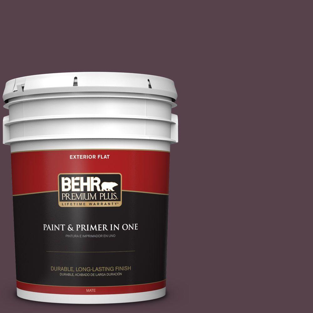BEHR Premium Plus 5-gal. #T15-4 Your Majesty Flat Exterior Paint