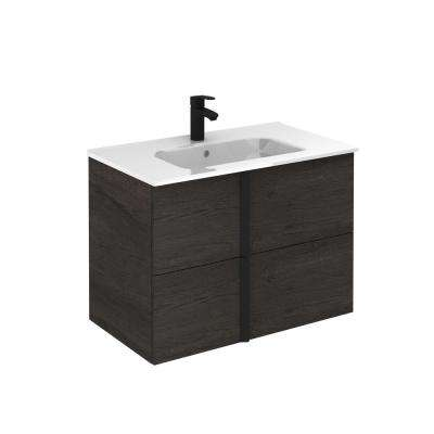 Onix 32 in. W x 18 in. D Bath Vanity in Essence Wenge with Ceramic Vanity Top in White