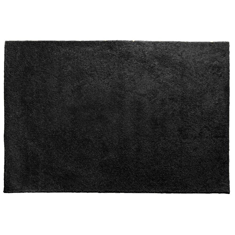 OurSpace Black 7 ft. x 10 ft. Bright Area Rug