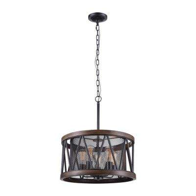 Parsh 5-Light Pewter Chandelier