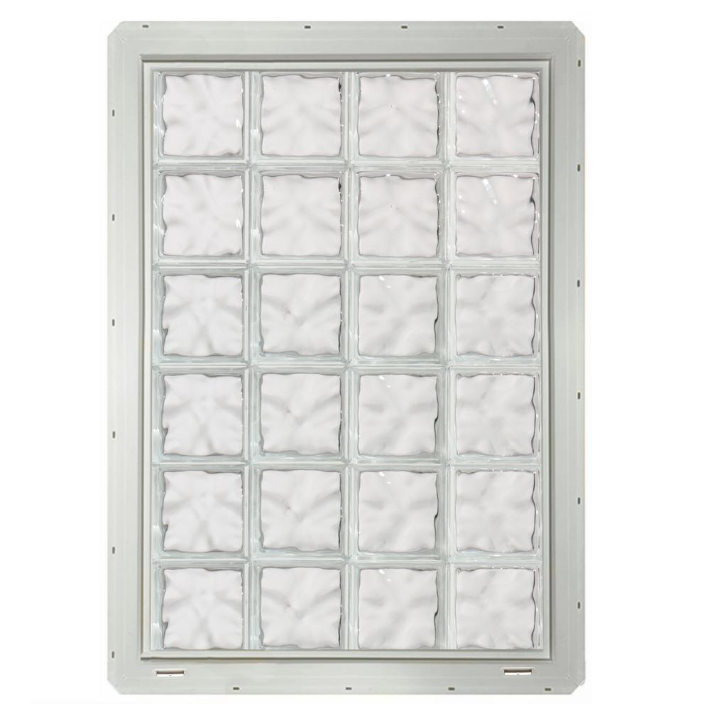 Crystalok in x in x in wave pattern for Where to buy glass block windows