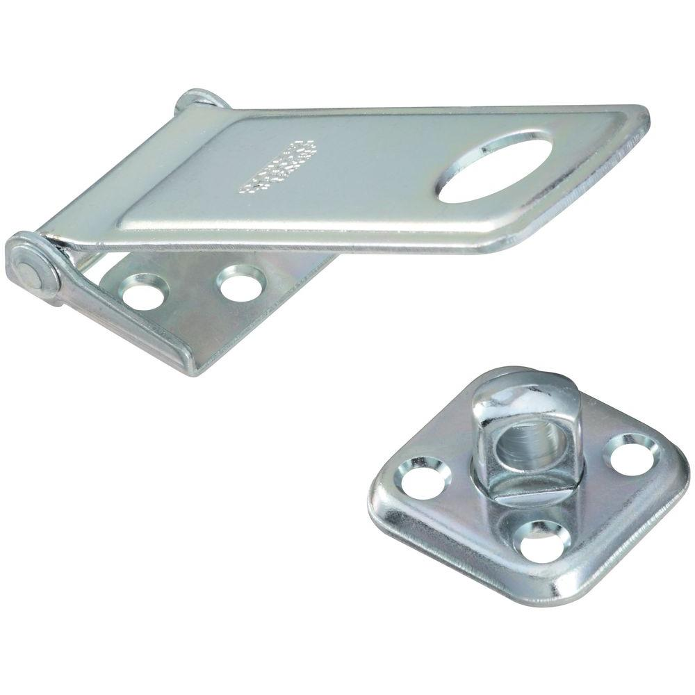 Stanley-National Hardware 4-1/2 in. Zinc Plate Rotating Post Hasp