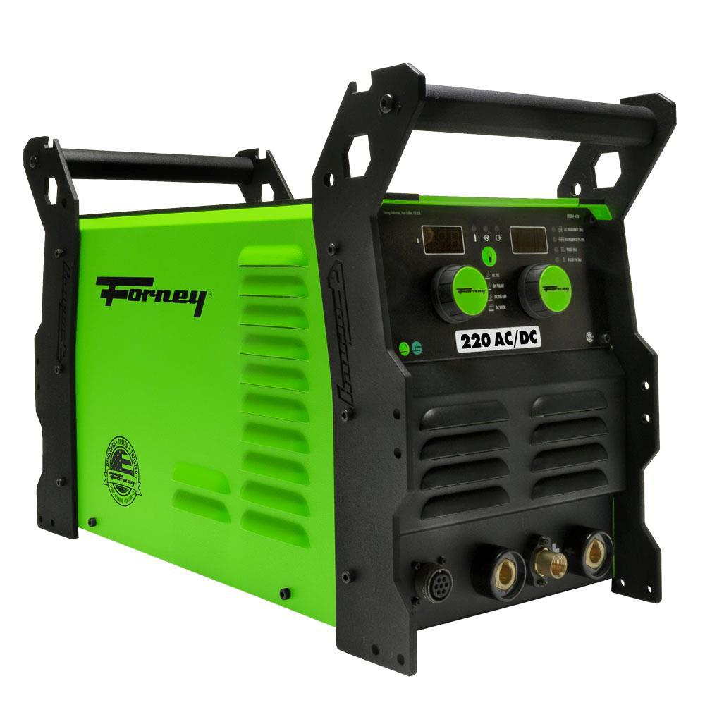 Forney 220 AC/DC 220 Amp TIG Welder w/ Foot Pedal and TIG Torch, High Frequency Start, Pulse Capabilities