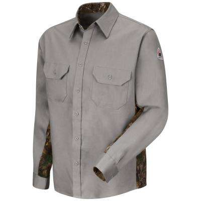 EXCEL FR ComforTouch Men's Medium (Tall) Grey Dress Uniform Shirt