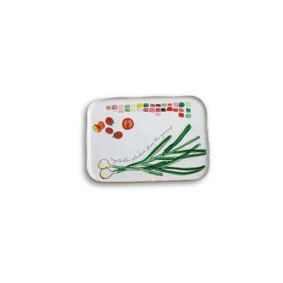 Farm to Table Spring Onion Porcelain Platter