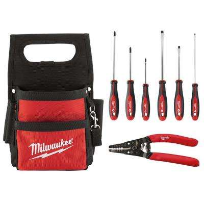Electricians Tool Pouch With Hand Tool Set (7-Piece)