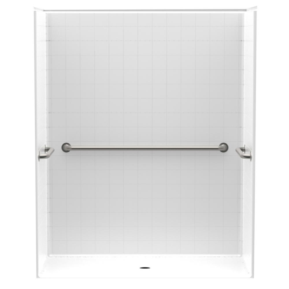 Accessible Smooth Tile AcrylX 60 in. x 34 in. x 74