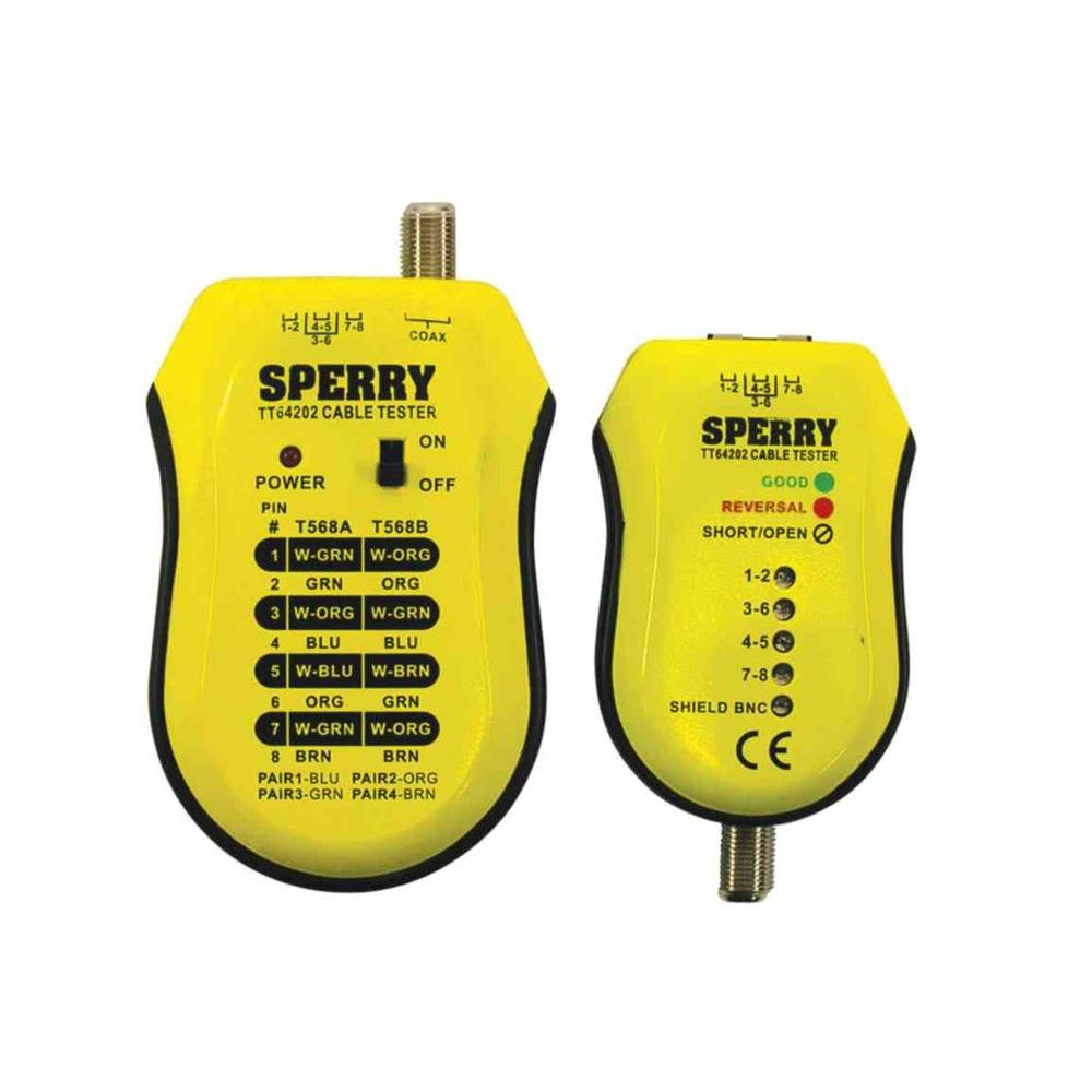 Sperry Coaxial And Utp Stp Cable Tester System Tt64202 The Home Depot Wiring Diagram Also Work Cat 6 Shielded 5e